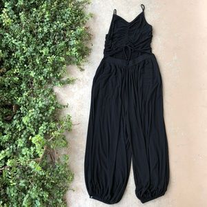 Free People Black Soft Wide Leg Jumpsuit
